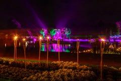 Festival delle luci nel parco Kadriorg della città Immagini Stock