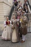 Festival der alten Kostüme stockbild