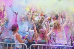 Festival der Farbe Holi eine Partei lizenzfreies stockfoto