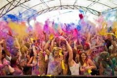Festival der Farbe Holi eine Partei stockfoto