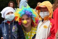 Festival der Seifen-Luftblasen Stockfoto