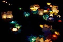 Festival des bougies de flottement Image stock