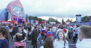 Festival des fans de la FIFA sur les collines de moineau banque de vidéos