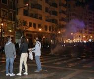 Festival des Feuers in Valencia Stockfotos