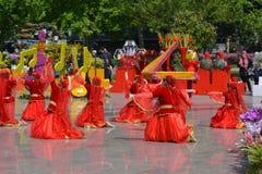 Festival des fleurs dans la ville de Bakou, Azerbaïdjan Photographie stock