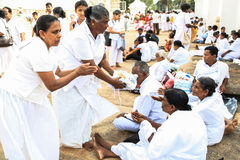 Festival des pèlerins dans Anuradhapura, Sri Lanka Image libre de droits