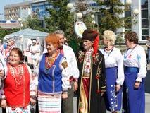 Festival des Staatsangehörigen züchtet Freundschafts-Brücke Lizenzfreie Stockfotos