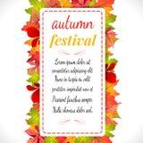 Festival di autunno Illustrazione di vettore su priorità bassa bianca Fotografia Stock Libera da Diritti