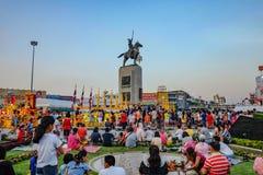 """Festival di avvenimento annuale della Tailandia """"del re annuale Taksin """"a Bangkok """"wongwianyai """" immagini stock"""