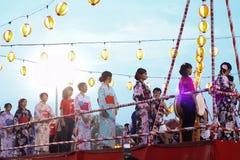 Festival di Bon-Odori in scià Alah, il 5 settembre 2015 fotografia stock