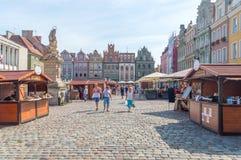 Festival di buon gusto in vecchia città di Poznan, Polonia immagine stock libera da diritti