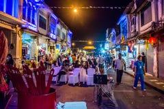 Festival di camminata della via di notte della città di Phuket Immagine Stock Libera da Diritti