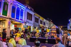 Festival di camminata della via di notte della città di Phuket Fotografie Stock