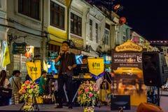 Festival di camminata della via di notte della città di Phuket Fotografie Stock Libere da Diritti