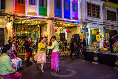 Festival di camminata della via di notte della città di Phuket Immagini Stock