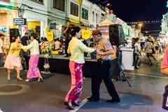 Festival di camminata della via di notte della città di Phuket Fotografia Stock Libera da Diritti