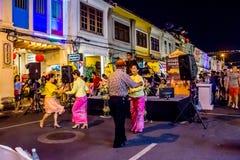 Festival di camminata della via di notte della città di Phuket Immagini Stock Libere da Diritti