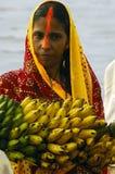 Festival di Chatt in India. Immagini Stock Libere da Diritti