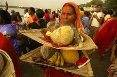 Festival di Chatt in India. Immagini Stock