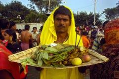Festival di Chatt in India. Fotografia Stock