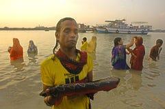Festival di Chatt in India. Immagine Stock Libera da Diritti