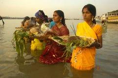 Festival di Chatt in India. Fotografia Stock Libera da Diritti