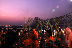Festival di Chatt in India Immagine Stock