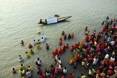 Festival di Chatt in India Fotografia Stock Libera da Diritti