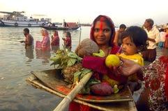 Festival di Chatt in India Immagini Stock Libere da Diritti