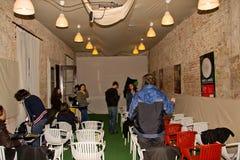 Festival di Cluj di commedia, Camera della proiezione del tiff Immagine Stock