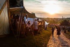 Festival di coltura medioevale Fotografie Stock
