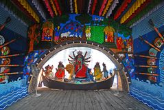 Festival di Durga di Kolkata Fotografie Stock
