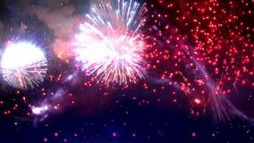 Festival di esplosione dei fuochi d'artificio illustrazione di stock