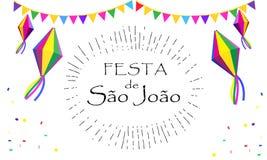 Festival di estate di Festa Junina di carnevale illustrazione di stock