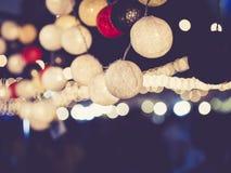 Festival di evento del partito della decorazione delle luci all'aperto fotografia stock libera da diritti