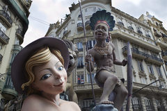 Festival di fallas di Valencia Fotografia Stock