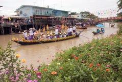Festival di galleggiamento della candela di Chado del ragazzo, Tailandia immagine stock