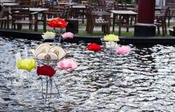 Festival di galleggiamento della lampada della Tailandia immagini stock libere da diritti
