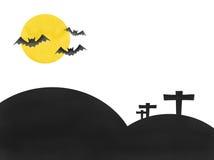 Festival di Halloween della luna del blocco Fotografia Stock