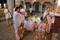 Festival di Holi alla gente di Manipuri Fotografia Stock Libera da Diritti