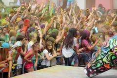 Festival di Holi dei colori Fotografia Stock Libera da Diritti