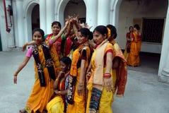 Festival di Holi del Bengala ad ovest India Fotografia Stock