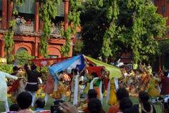 Festival di Holi del Bengala ad ovest India Fotografie Stock Libere da Diritti
