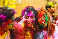 Festival di Holi Holi felice! Fotografia Stock Libera da Diritti