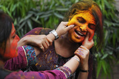 Festival di Holi in India Fotografia Stock Libera da Diritti
