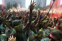Festival di Holi in Indonesia Immagine Stock Libera da Diritti