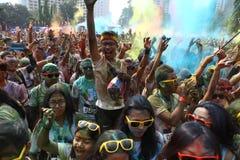 Festival di Holi in Indonesia Immagine Stock