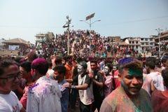 Festival di Holi nel Nepal Fotografia Stock Libera da Diritti