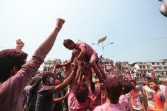 Festival di Holi nel Nepal Immagine Stock Libera da Diritti