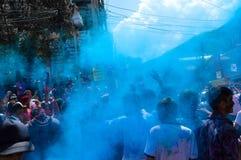 Festival di Holi in pokhara fotografie stock libere da diritti